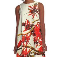 Flame Tree Red A-Line Dress