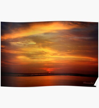Sunset ~ Dramatic and Romantic Poster