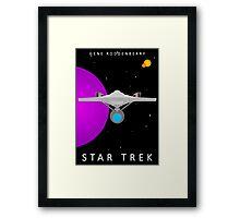Star Trek - Minimalist Enterprise Framed Print