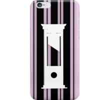 Stripes and Guillotine iPhone Case/Skin