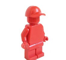 Red Monochrome Minifigure by bricksandplates