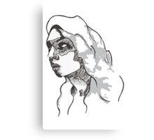 Sketch Face Canvas Print