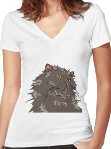 Ball of Fur Women's Fitted V-Neck T-Shirt