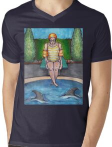 Sharks in the Water Mens V-Neck T-Shirt