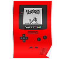 Pokemon Red on GameBoyColor by AronGilli Poster