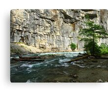 Cliffs and river Canvas Print