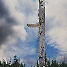 Bill Reid's Totem Pole in Skidigate Haida Gwaii by Yukondick