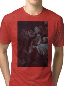 Within my heart a flame of desires, colorful abstract painting with fantasy girls. Tri-blend T-Shirt