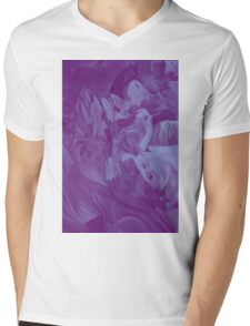 Within my heart a flame of desires, colorful abstract painting with fantasy girls. Mens V-Neck T-Shirt