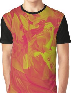 Within my heart a flame of desires, colorful abstract painting with fantasy girls. Graphic T-Shirt