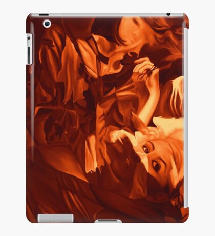 Within my heart a flame of desires, colorful abstract painting with fantasy girls. iPad Case/Skin