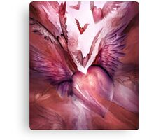 Flight Of The Heart - Rose Canvas Print