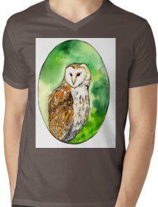 Owl  Mens V-Neck T-Shirt
