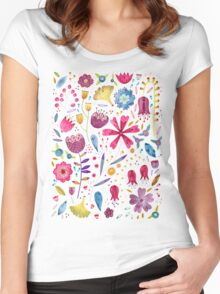 Autumn Hedgerow Women's Fitted Scoop T-Shirt