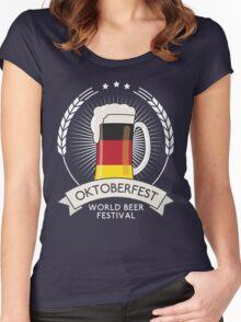 Germany Oktoberfest Glass Women's Fitted Scoop T-Shirt