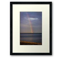 The Lighthouse at the End of the Rainbow Framed Print