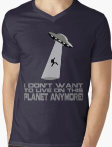 I don't want to live on this planet anymore Mens V-Neck T-Shirt