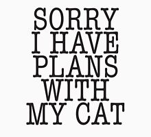 Sorry I have plans with my cat Womens Fitted T-Shirt