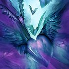 Flight Of The Heart - Purple and Teal by Carol  Cavalaris