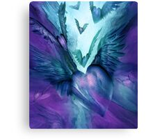 Flight Of The Heart - Purple and Teal Canvas Print