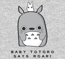 Baby Totoro says ROAR One Piece - Short Sleeve