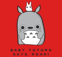 Baby Totoro says ROAR Kids Clothes