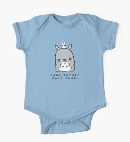 Baby Totoro says ROAR One Piece - Short Sleeve