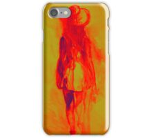 Watercolor sketch of girl in summer dress and hat iPhone Case/Skin