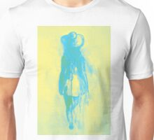 Watercolor sketch of girl in summer dress and hat Unisex T-Shirt