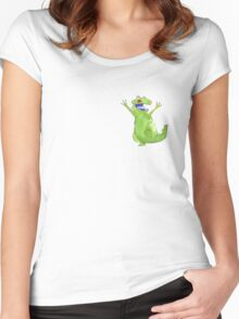 Watercolour Reptar Women's Fitted Scoop T-Shirt