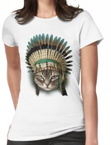 CHIEF CAT Womens Fitted T-Shirt