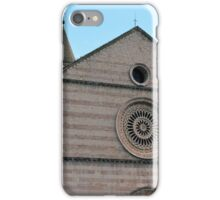 Monument from Assisi, medieval cathedral iPhone Case/Skin