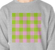 90's Buffalo Check Plaid in Lime and Bubblegum Pink Pullover