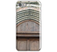 Medieval church entrance with arches in Foligno iPhone Case/Skin