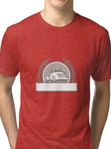 Vintage Pick Up Truck Circle Retro Tri-blend T-Shirt