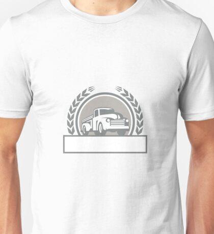 Vintage Pick Up Truck Circle Retro Unisex T-Shirt