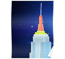 Empire State Building New York Illustration Poster