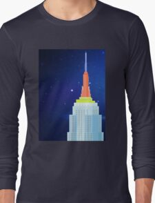 Empire State Building New York Illustration Long Sleeve T-Shirt