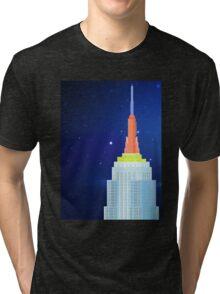 Empire State Building New York Illustration Tri-blend T-Shirt