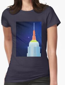 Empire State Building New York Illustration Womens Fitted T-Shirt