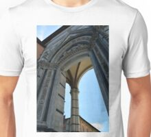 Gothic column and arch in Siena Unisex T-Shirt