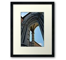 Gothic column and arch in Siena Framed Print