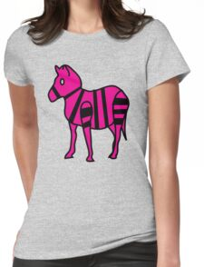 Extremely Lazily Made Zebra Womens Fitted T-Shirt