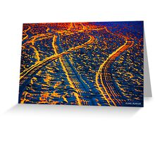 Tire Tracks and Sunset at the Beach Greeting Card