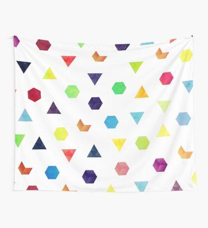 Random Geometry Wall Tapestry