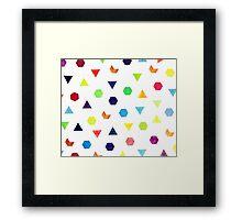 Random Geometry Framed Print