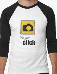 We Just Click Men's Baseball ¾ T-Shirt
