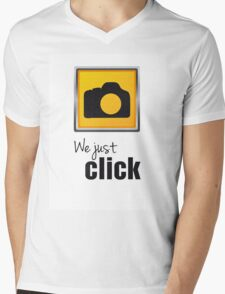 We Just Click Mens V-Neck T-Shirt