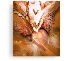 Flight Of The Heart - Peach Canvas Print