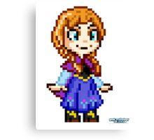 Frozen Ana - Pixel Art Canvas Print